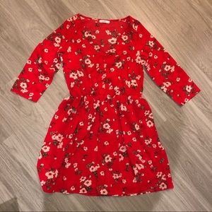Red Floral Nasty Gal Dress
